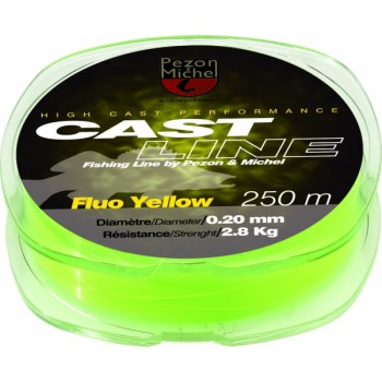 NYLON CAST LINE FLUO YELLOW 0,20